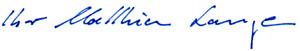 Unterschrift Zahnarzt Dr. Matthias Lange